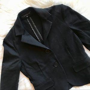 Theory Black Two Button Blazer